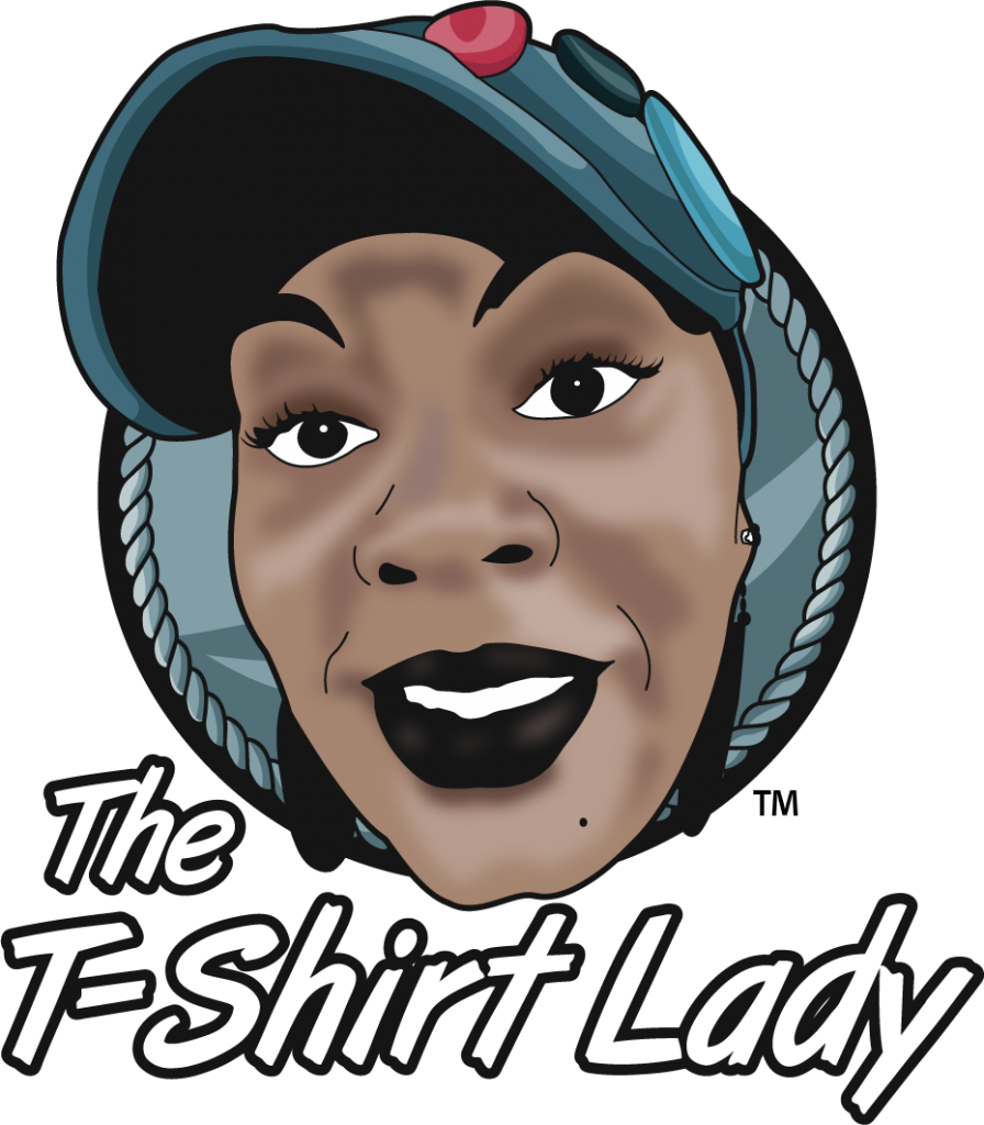 TShirt Lady Cartoon With Words Small Business